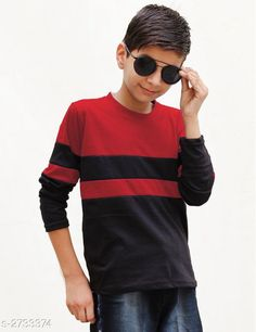 Tshirts & Polos Classy Kid's Boy's Cotton Blend T-Shirt Fabric: Cotton Blend Sleeves: Sleeves Are Included Size: Age Group (4 - 5 Years) - 24 in Age Group (6 - 7 Years) - 28 in Age Group (8 - 9 Years) - 30 in Age Group (10 - 11 Years) - 32 in Age Group (12 - 13 Years) - 34 in   Type: Stitched Description: It Has 1 Piece Of Kid's Boy's T-Shirt Pattern: Solid Country of Origin: India Sizes Available: 3-4 Years, 4-5 Years, 5-6 Years, 6-7 Years, 7-8 Years, 8-9 Years, 9-10 Years, 10-11 Years, 11-12 Years, 12-13 Years   Catalog Rating: ★4 (2649)  Catalog Name: Classy Kid's Boy's Cotton Blend T-Shirt's Vol 4 CatalogID_370464 C59-SC1173 Code: 852-2733374-285