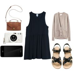 A fashion look from March 2013 featuring La Garçonne Moderne cardigans, ELLA and A.P.C. sandals. Browse and shop related looks.