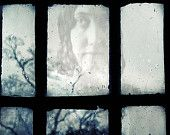 "Victorian Ghost Photograph ""Let Me In At Your Window"" - Bronte Gothic Haunted Photo - Halloween Art"