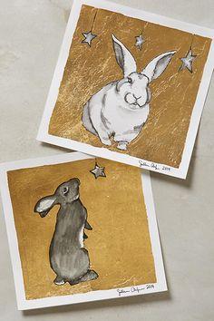 Gilded Bunny Print A