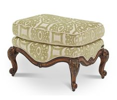 AICO Furniture - Lavelle Melange Bergere Chair Ottoman - 54875-CELRY-34