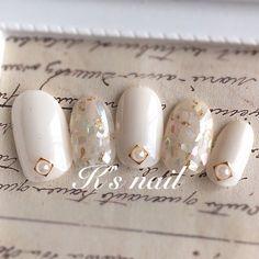 #mani #white #pearl