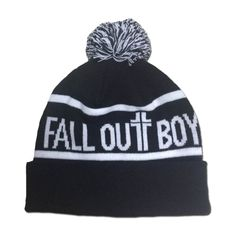 Fall Out Boy Pom Beanie (27 AUD) ❤ liked on Polyvore featuring accessories 8dff43337325