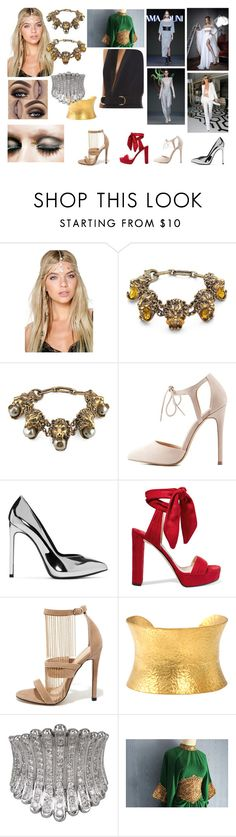 """Dubai starter pack"" by crispidiamond on Polyvore featuring Boohoo, Gucci, Chanel, Make, Charlotte Russe, Yves Saint Laurent, Jimmy Choo, Liliana, Yossi Harari and Plukka"