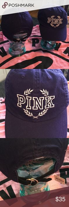 BNWT VS PINK BASEBALL HAT BNWT VS PINK ADJUSTABLE BASEBALL HAT Navy blue with PINK embroidered on the front in white I DO NOT TRADE will price drop PINK Victoria's Secret Accessories Hats