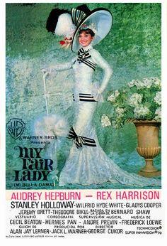1964.Audrey Hepburn, Rex Harrison, Stanley Holloway, Wilfrid Hyde-White, Gladys Cooper, Jeremy Brett, Theodore Bikel