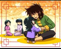 Shiryu, Shunrei, Dohko y Ryuho.
