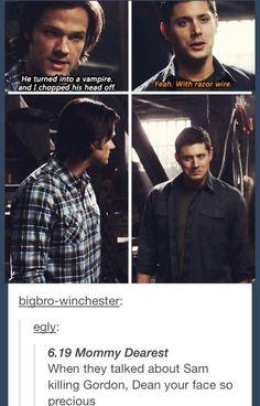 Dean looks proud