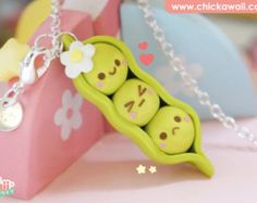 Piña Pineapple kawaii polymer clay fimo collar. by ChicKawaii