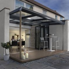 On a warm day - by using large in line sliders or bi-fold doors your customer then has a much bigger space to enjoy, perfect for family barbeques!!