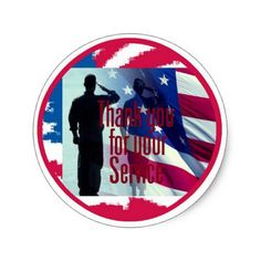 MILITARY CLASSIC ROUND STICKER - craft supplies diy custom design supply special