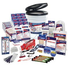 This comprehensive survival kit contains the most effective emergency supplies for emergency preparedness including the emergency food, water, lighting, radio, first-aid, sanitation, and shelter supplies to prepare for all disasters. This deluxe kit also contains a Solar / Hand-Crank Powered Flashlight, Radio, Flashing LED Siren & Mobile Phone Charger with a universal adapter - just plug in your cell phone car charger to charge your phone using the hand-crank / Dynamo Power Generator.