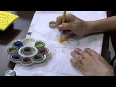 Mulher.com 12/08/2014 - Pintura Tecido Amor Perfeito por Beth Matteelli - Parte 1 - YouTube