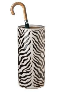Zebra Ceramic Umbrella Stand. Product in photo is from www.wellappointedhouse.com
