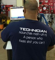 Technician- It's a noun