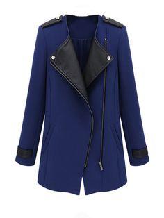 Long Mandarin Collar Long Sleeve Slim Trench Coat