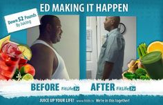 Ed down 52 pounds by Juicing!