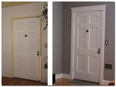 Door casing ideas is one of the best doors in the office. Many times the doors and doors in your home or office are often overlooked as an opportunity Home Upgrades, Home Renovation, Home Remodeling, Front Door Trims, Front Door Molding, Front Entry, Decoracion Low Cost, Door Casing, Moldings And Trim