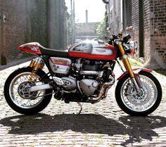 Triumph Cafe Racer, Triumph Motorcycles, Cafe Racer Motorcycle, Motorcycle  Gear, Custom Motorcycles 30f61724d96