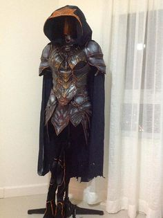Womens Skyrim Nightingale Costume Armor Raw by MontysCraft