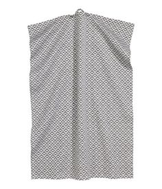 Gray/patterned. Tea towel in jacquard-weave cotton fabric. Hanger loop on one…