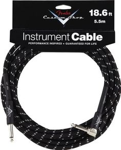 Fender Accessories 099-0820-038 Performance Series 18.6 Feet Right Angle Instrument Cable - Black Tweed - http://www.rekomande.com/fender-accessories-099-0820-038-performance-series-18-6-feet-right-angle-instrument-cable-black-tweed/