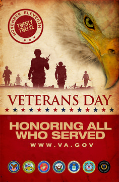 Veterans Day 2012 Poster from the Department of Veteran Affairs