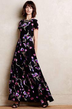 Love this dark silk dress.