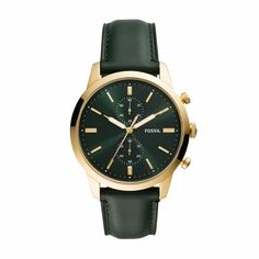 Fossil Men Townsman Chronograph Dark Green Leather Watch - One size Vintage Costume Jewelry, Vintage Costumes, Vintage Jewelry, Hippie Jewelry, Tribal Jewelry, Yoga Jewelry, Modern Hippie Style, Hippie Chic, Purse Essentials