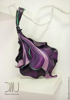 """Женские сумки ручной работы. Ярмарка Мастеров - ручная работа Сумка кожаная """"Ирис"""" цветные. Handmade."""