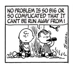 Linus and Charlie Brown.