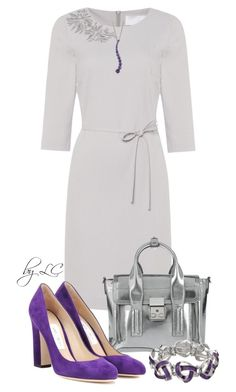 Work outfit by explorer-14541556185 on Polyvore featuring HUGO, Jimmy Choo and 3.1 Phillip Lim