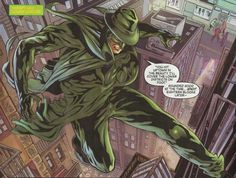 Dynamite Entertainment's The Green Hornet image crop from issue #22. Britt Reid's short sightedness is a fail.