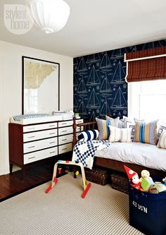 Stylish Nautical Boy's Nursery Design | Kidsomania  Canadian Erin Feasby from Toronto of Feasby and Bleeks