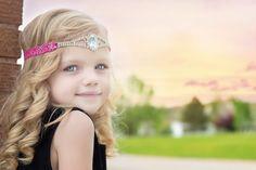 Pink Rhinestone Headband, Rhinestone Connector Headband, Princess Headband, Homecoming, Baby Headband, Prom, Toddler Headband, Teen, Bridal