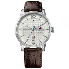 Tommy Hilfiger Dress Watch With White Face & Leather Strap Tommy Hilfiger Watches, Tommy Hilfiger Shoes, Sport Casual, Men Casual, Brown Leather Strap Watch, Watches For Men, Mens Fashion, Model, Timeless Fashion