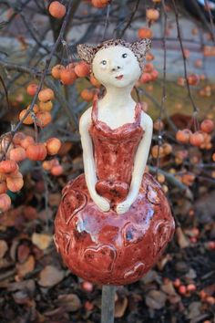Gartenfiguren - Sammy Keramikfigur - ein Designerstück von Konform-art bei DaWanda