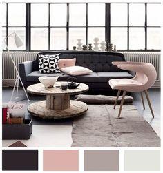 Colores pasteles agrisados que en conjunto con sus demás elementos, crean un espacio juvenil y agradable a la vista.
