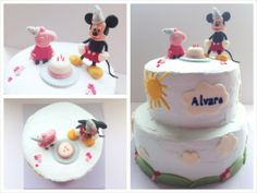 Peppa Pig and Mickey Mouse Cake