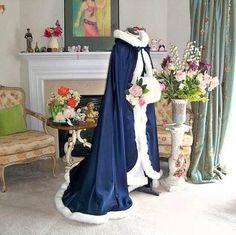 Winter Wedding Coat Hooded Bridal Capes Cloaks Wedding Cloak Winter Wedding Cape
