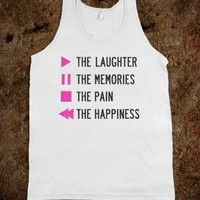 Play The Laughter, Pause the Memories (Tank) - Young 'N Awesome - Skreened T-shirts, Organic Shirts, Hoodies, Kids Tees, Baby One-Pieces and Tote Bags