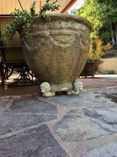 Concrete Lion Pot Feet Set of 3 Cement Outdoor Plant Planter | Etsy