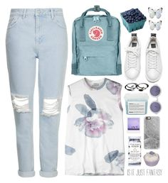 """""""Untitled #27"""" by onewithbirds ❤ liked on Polyvore featuring Topshop, Fjällräven, Davines, Acne Studios, Casetify, Holly Ryan and Chanel"""