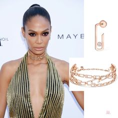 Joan Smalls wearing Messika jewelry at the Daily Front Row Fashion Awards 2019 Bow Earrings, Circle Earrings, Daily Front Row, Celebrity Jewelry, Joan Smalls, Sleek Hairstyles, Bvlgari, Luxury Jewelry, World Of Fashion
