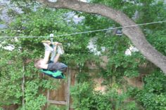Backyard zip line for kids backyard zip and tree houses click on images to enlarge this is not really a do it yourself site but i recently underwent the ordeal of building a zip line by trial and error and solutioingenieria Choice Image