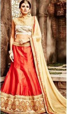 Raw #Silk Fabric A Line Style Lehenga Choli in #Deep #Orange Color | FH457871608 #heenastyle, #designer, #lehengas, #choli, #collection, #women, #online, #wedding , #Bollywood, #stylish, #indian, #party, #ghagra, #casual, #sangeet, #mehendi, #navratri, #fashion, #boutique, #mode, #henna, #wedding, #fashion-week, #ceremony, #receptions, #ring , #dupatta , #chunni , @heenastyle , #Circular , #engagement