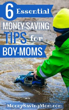 Raising boys is fun, adventurous, and...expensive! Check out these helpful money-saving tips for boy-moms!