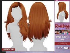 The Sims 4 WINGS OE0414 HAIR KIDS VERSION