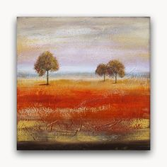 Original  Rustic  Landscape  Painting Orange Country by ThereseArt, $225.00