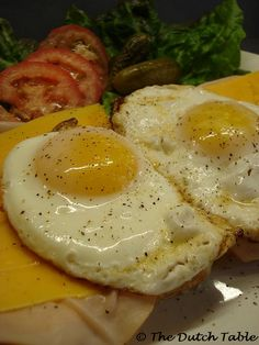 The Dutch Table: Uitsmijter (Dutch Fried Egg Sandwich with ham and cheese)